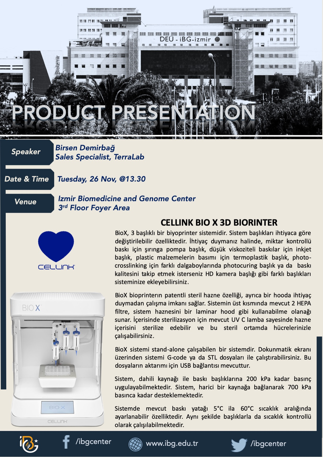 CELLINK BIO X 3D BIORINTER