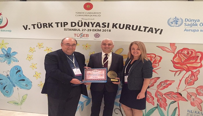 ASSOC. PROF. SINAN GUVEN RECEIVED TUSEB AZIZ SANCAR ENCOURAGEMENT AWARD IN THE FIFTH TURKISH MEDICAL WORLD CONGRESS